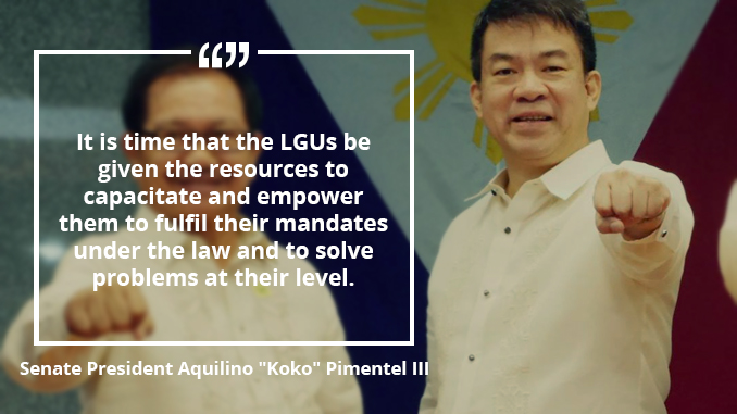 """Bigger Pie, Bigger Slice"" Law Needed While Waiting for Shift to Federalism – PIMENTEL"