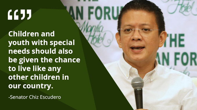 Children With Special Needs Must Have Access to Education Services – ESCUDERO