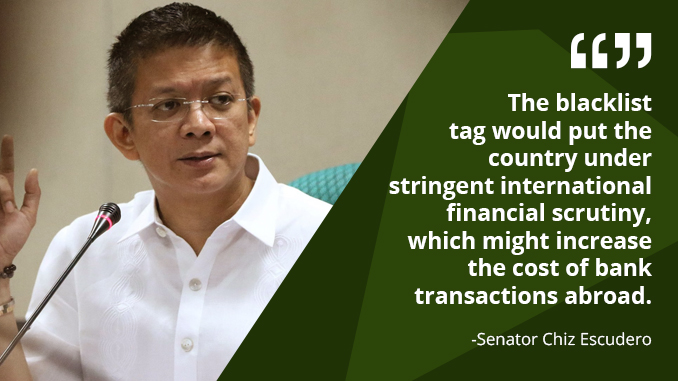 Include Casinos in Anti-Money Laundering Act (AMLA) Coverage – ESCUDERO