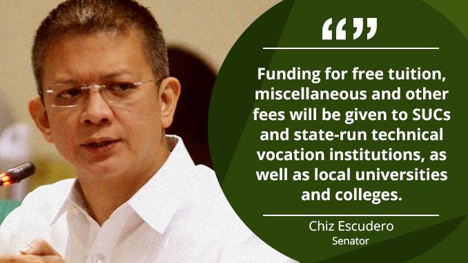 Free Tertiary Education Act Will Go a Long Way for the Filipino Youth – ESCUDERO