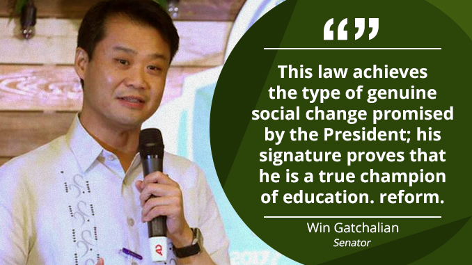 Free College Education a Historic Moment, a World-Class Reform – GATCHALIAN