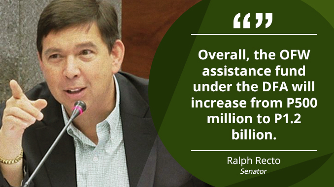 Assistance Fund for OFWs in Distress to Reach More Than P1B – RECTO