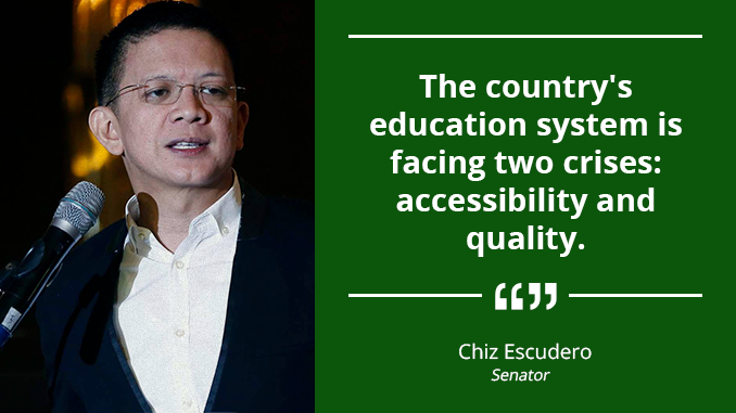 Education Sector Should Gear Toward Excellence in the International Scene – ESCUDERO