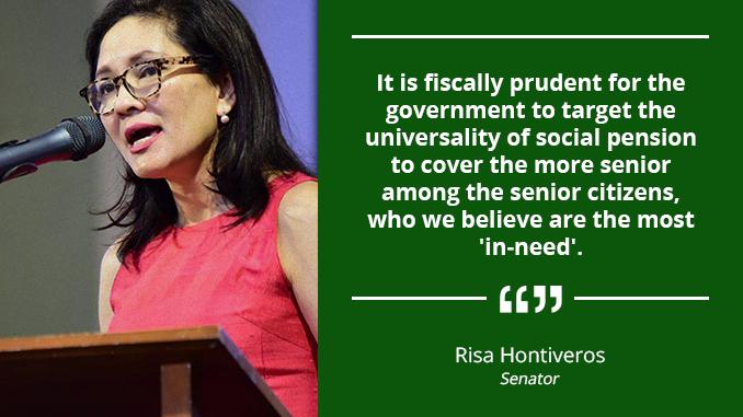 Universality of Social Pension for Senior Citizens – HONTIVEROS