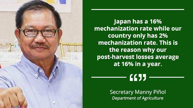 Standard Mechanization Program for Agriculture Sector – PIÑOL