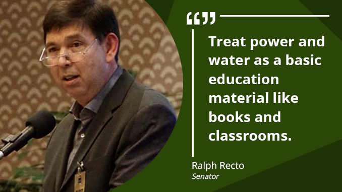 Electricity Budget for Public Schools to Jump Nine-fold to Almost P3 Billion – RECTO