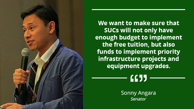 P10 Million Across-The-Board Increase in Capital Outlay for SUCs – ANGARA