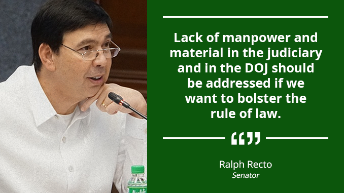 """Extra Judicial Funding"" to Modernize Courts, Equip Public Attorneys and Prosecutors with Resources – RECTO"