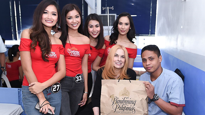 BINIBINING PILIPINAS 2018 CANDIDATES VISIT WOUNDED SOLDIERS
