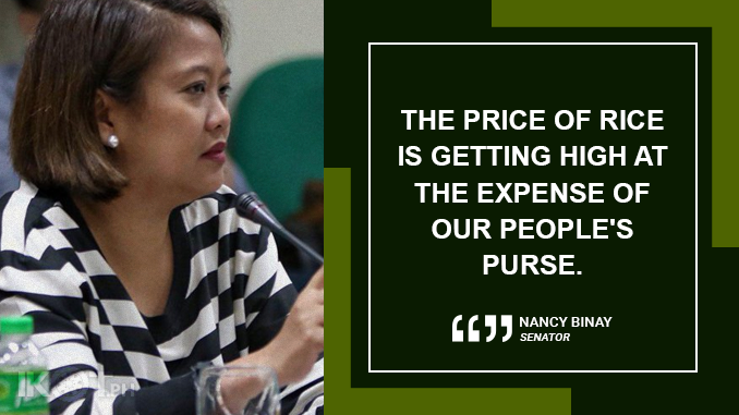 DWINDLING SUPPLY OF NFA RICE WARRANT UNIFIED STATE ACTION – BINAY