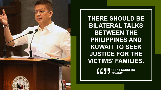 GOVERNMENT MUST REVISIT LABOR MIGRATION POLICY, TAP NEW MARKETS FOR OFWs – ESCUDERO