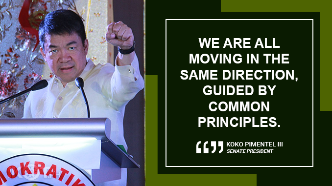 PDP-LABAN IS FULFILLING THE PROMISE OF CHANGE – PIMENTEL