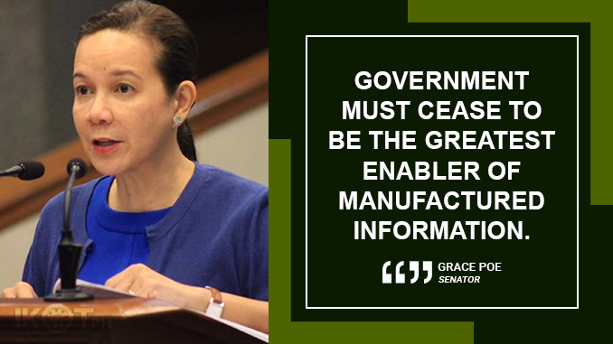 MOVES TO THWART FAKE NEWS WILL NOT CURTAIL FREE SPEECH – POE