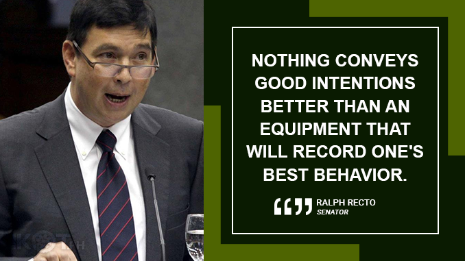 BODYCAMS FOR 'TOKHANGERS' TO PREVENT ABUSE – RECTO