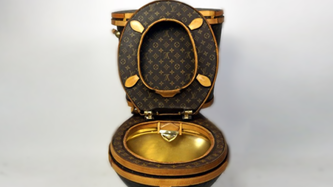 A GOLDEN TOILET, SERIOUSLY?