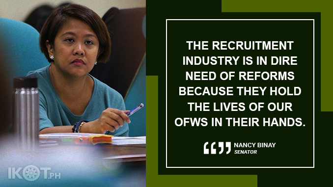 SENATE TO PROBE QUESTIONABLE PROCESSES BEHIND RECRUITMENT OF OFWs – BINAY