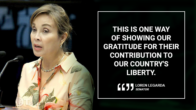 RELEASE OF FUNDS FOR PENSION ARREARS OF WAR VETERANS IS TIMELY – LEGARDA
