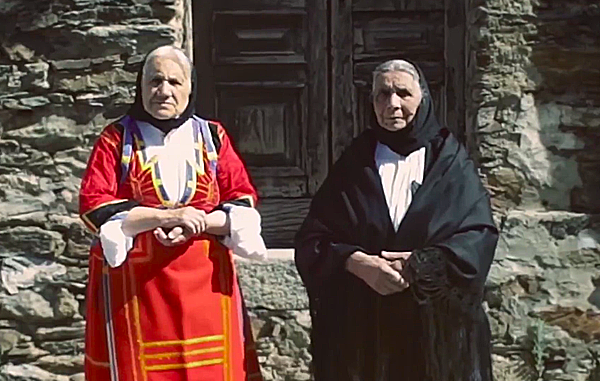 WOMEN OF SARDINIA IN THEIR TRADITIONAL DRESS