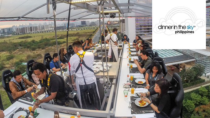 DINNER IN THE SKY TAKES ON MANILA