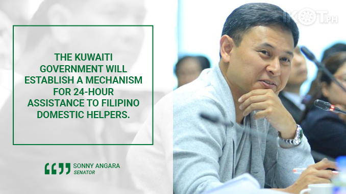 SIGNING OF KUWAIT AGREEMENT TO END CASES OF OFW ABUSE – ANGARA
