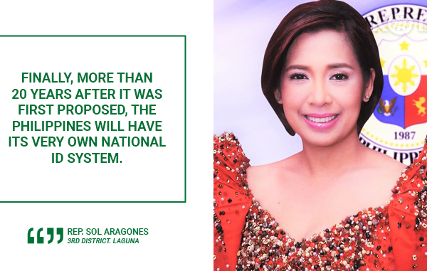 'ONE FOR ALL, ALL FOR ONE' NATIONAL ID SYSTEM TO BENEFIT ALL FILIPINOS – ARAGONES