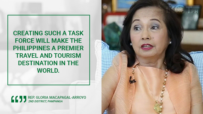 HOUSE APPROVES TOURIST TASK FORCE  – MACAPAGAL-ARROYO