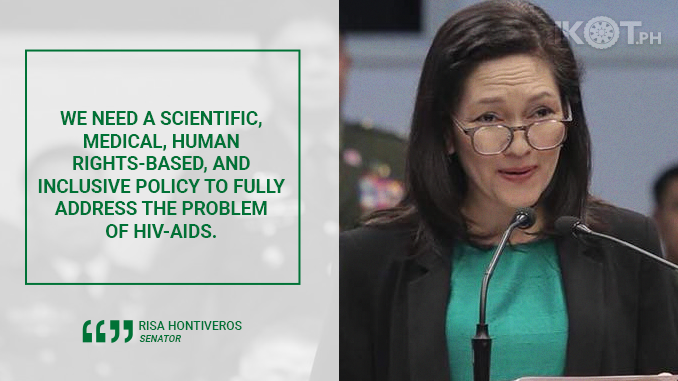BILL STRENGTHENING HIV-AIDS POLICY FOR PH APPROVED IN SENATE – HONTIVEROS
