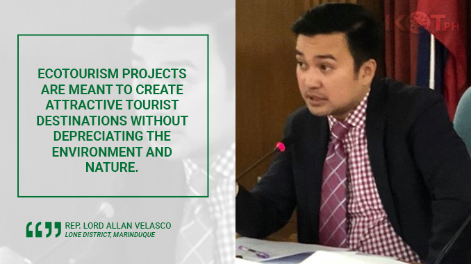 MARINDUQUE ECOTOURISM BILLS APPROVED IN COMMITTEE – VELASCO