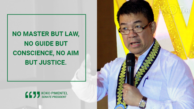 AN HONOR AND PRIVILEGE TO SERVE AS SENATE PRESIDENT – PIMENTEL