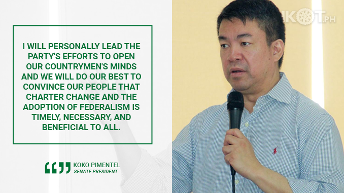 FEDERALISM IS TIMELY, NECESSARY, AND BENEFICIAL TO ALL – PIMENTEL