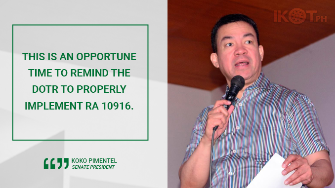 IMPLEMENT ROAD SPEED LIMITER ACT – PIMENTEL