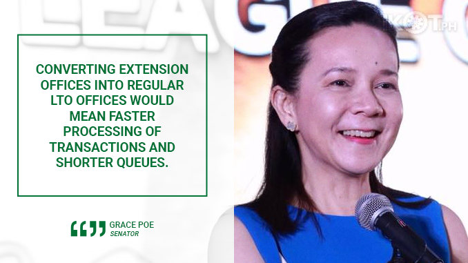 CONVERT LTO EXTENSION OFFICES INTO REGULAR LICENSING CENTERS – POE