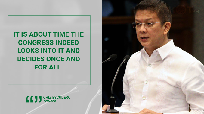 LAWMAKERS SHOULD PASS LAW TO END ENDO – ESCUDERO