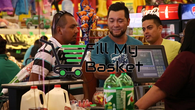PAYING IT FORWARD BY FILLING GROCERY BASKETS