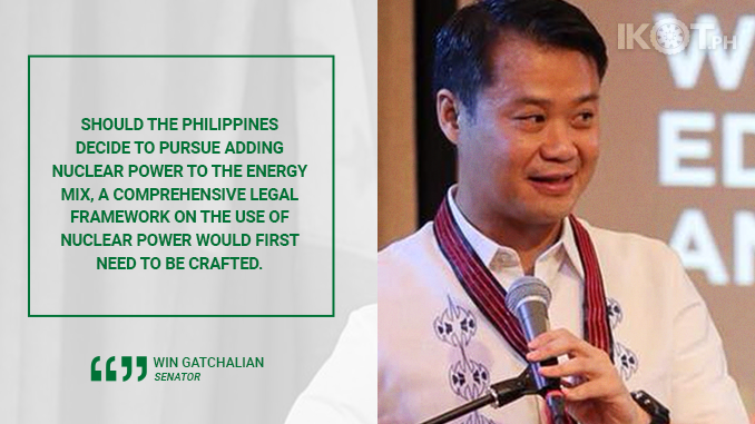 STUDY NUCLEAR TECHNOLOGY AS AN ALTERNATIVE ENERGY SOURCE – GATCHALIAN