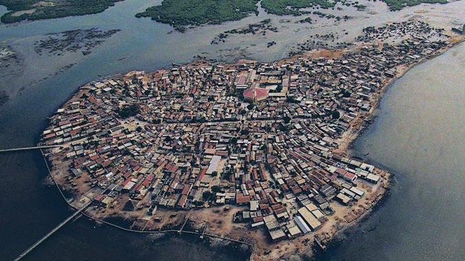 AN ISLAND MADE OF SEASHELLS
