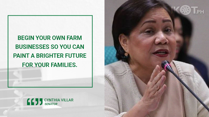 ENGAGE IN FARM BUSINESSES TO FIGHT HUNGER – VILLAR