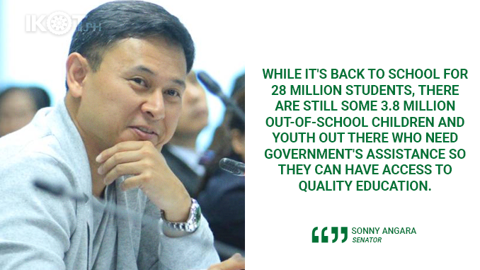 GIVE EDUCATION ASSISTANCE TO 4M OUT-OF-SCHOOL YOUTH – ANGARA