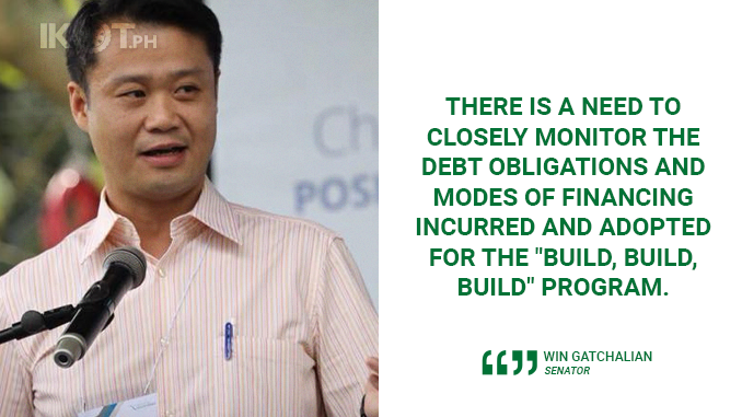 REVIEW BUILD, BUILD, BUILD PROGRAM FINANCING TO ENSURE TRANSPARENCY, ACCOUNTABILITY – GATCHALIAN
