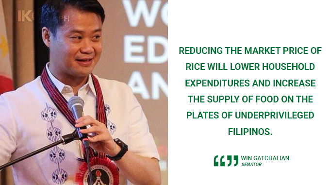 MAKE RICE CHEAPER FOR UNDERPRIVILEGED FILIPINOS – GATCHALIAN