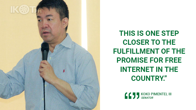 DICT, TRANSCO AND NGCP AGREEMENT IS ONE STEP CLOSER TO FREE INTERNET – PIMENTEL