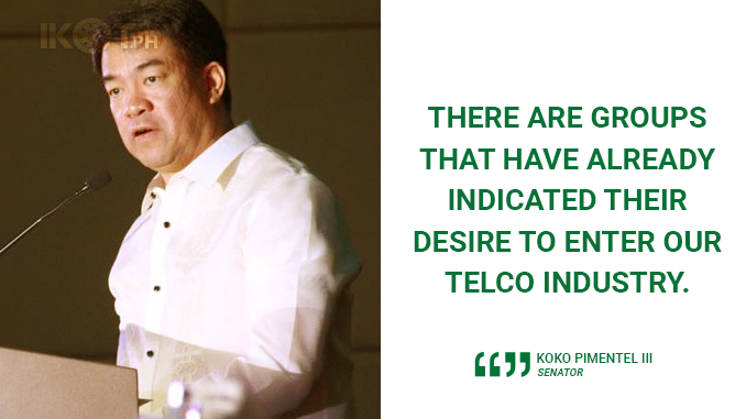 FINALIZE TERMS OF REFERENCE FOR THIRD TELCO BEFORE SONA – PIMENTEL