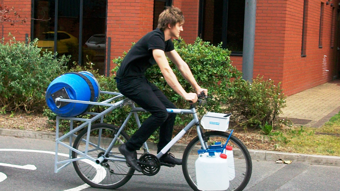 SPINCYCLE: A BICYCLE AND WASHING MACHINE ROLLED INTO ONE