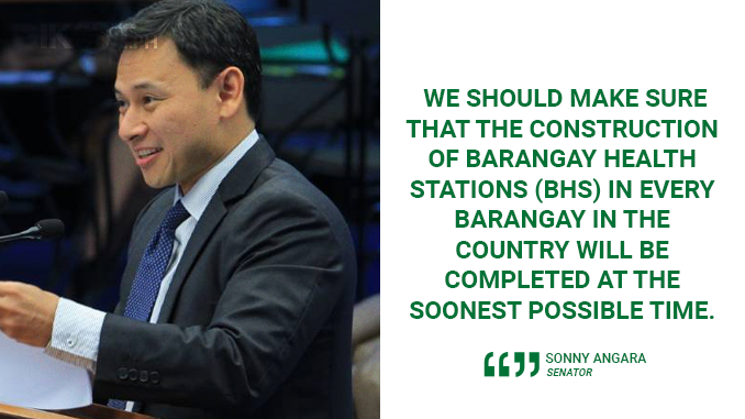 COMPLETE THE CONSTRUCTION OF BARANGAY HEALTH STATIONS IN EVERY BARANGAY – ANGARA
