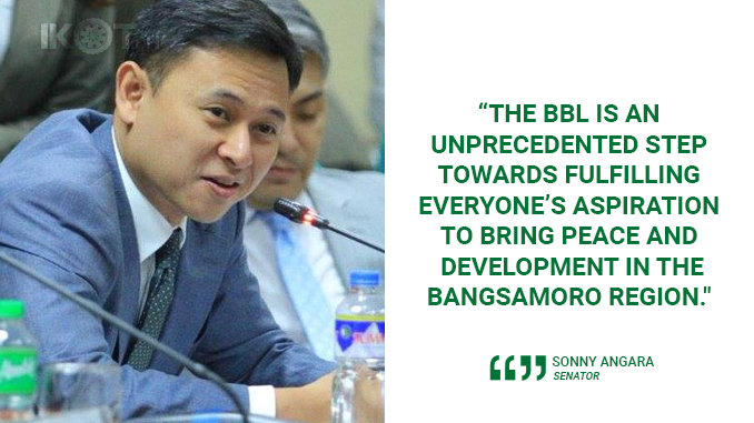 APPROVED BBL TO BRING LASTING PEACE IN MINDANAO – ANGARA