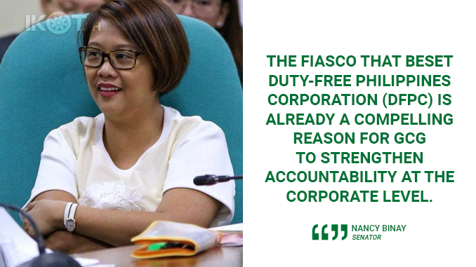 REVIEW FISCAL POLICIES OF GOCCs – BINAY