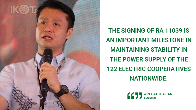 SIGNING OF ELECTRIC COOP EMERGENCY AND RESILIENCY FUND LAW A MILESTONE – GATCHALIAN