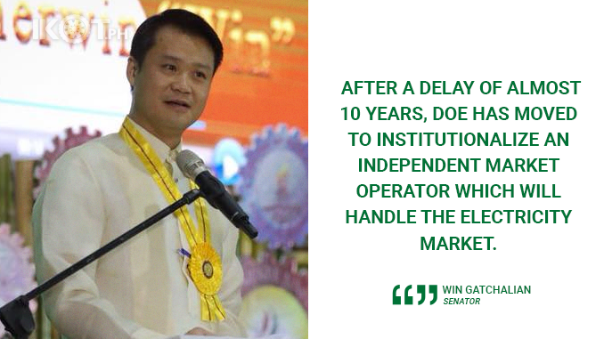 FORMATION OF WESM's INDEPENDENT MARKET OPERATOR TO BENEFIT FILIPINO CONSUMERS – GATCHALIAN