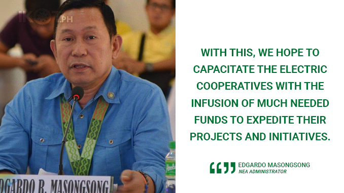 NEA EXTENDS P1.294-B WORTH OF LOANS TO 46 POWER COOPS IN FIRST SEMESTER – MASONGSONG