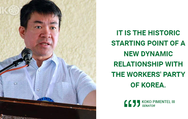 PDP LABAN TRIP TO NORTH KOREA HISTORIC – PIMENTEL